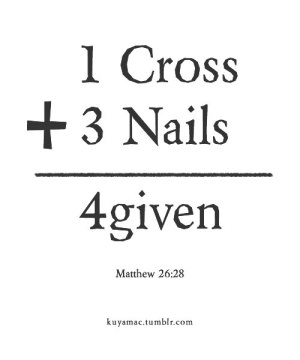 1cross, 3 nails, 4given